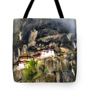 Famous Tigers Nest Monastery Of Bhutan 3 Tote Bag