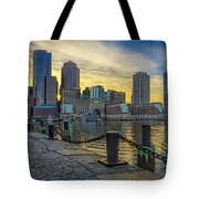 Fan Pier Boston Harbor Tote Bag