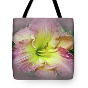 Fancy Daylily In Pink And Yellow Tote Bag