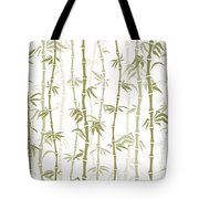 Fancy Japanese Bamboo Watercolor Painting Tote Bag