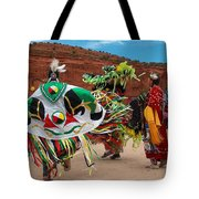Fancy Shawl Dancer At Star Feather Pow-wow Tote Bag