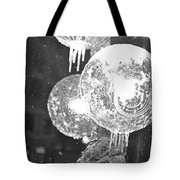 Faneuil Hall Lollypop Light Icicles Boston Ma Black And White Tote Bag