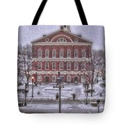 Faneuil Hall Snow Tote Bag by Joann Vitali