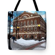 Faneuil Hall Winter Tote Bag