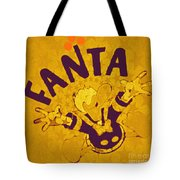 Fanta Old School Pop Art Pur Tote Bag