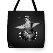 Fantail Hummingbird Square Bw Tote Bag