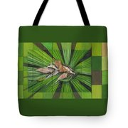 Fantail Palm Plateau Tote Bag