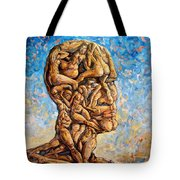 Fantasies Of A 120 Years Old Man Struggling To Survive Tote Bag by Darwin Leon