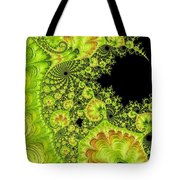 Fantastic Abstract On Black Tote Bag