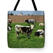 Fantastic Farm On A Spring Day With Cows Tote Bag