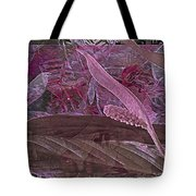 Fantasy African Violets And Peace Lily Pink, Red And Pink Tote Bag