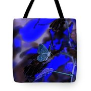 Fantasy Blue Butterfly Tote Bag