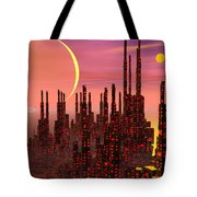 Fantasy City - 3d Render Tote Bag