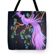 Fantasy Feather Bird Tote Bag