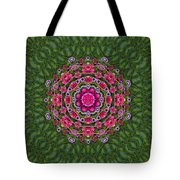 Fantasy Floral Wreath In The Green Summer  Leaves Tote Bag