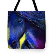 Fantasy Friesian Horse Painting Print Tote Bag