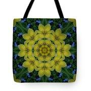Fantasy Plumeria Decorative Real And Mandala Tote Bag