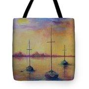 Fantasy Sailboats  Tote Bag