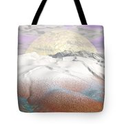 Fantasy Winter Landscape - 3d Render Tote Bag