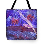 Fantasy With African Violets And Peace Lily 46 Tote Bag