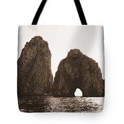 Faraglioni In Sepia Tote Bag