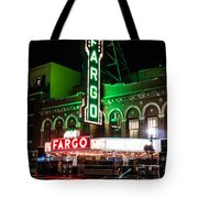 Fargo Nd Theatre At Night Picture Tote Bag