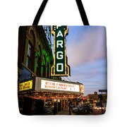Fargo Theater And Downtown Along Broadway Drive Tote Bag