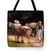 Farm - Cow - Time For Milking  Tote Bag