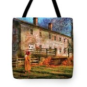 Farm - Farmer - There Was An Old Lady Tote Bag