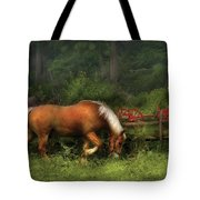Farm - Horse - In The Meadow Tote Bag