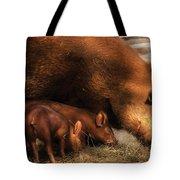 Farm - Pig - Family Bonds Tote Bag