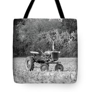 Farm All In  Corn Field Blsck And White Tote Bag