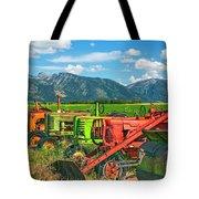Farm  Art Tractors Tote Bag