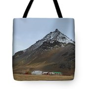 Farm At The Base Of Mt Stapafell Tote Bag