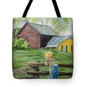 Farm Boy Tote Bag