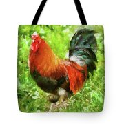 Farm - Chicken - The Rooster Tote Bag