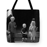 Farm Children And Flag Tote Bag