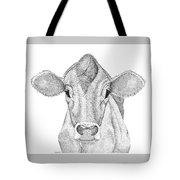 Farm Cow In Pointillism Tote Bag
