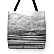 Farm Fields Meet The Rocky Mountains Tote Bag