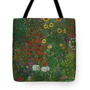 Farm Garden With Flowers Tote Bag