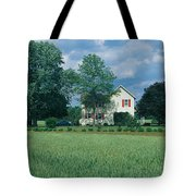 Farm House And Spring Field, Maryland Tote Bag