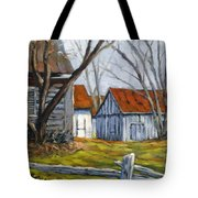 Farm In Berthierville Tote Bag