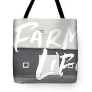 Farm Life Barn- Art By Linda Woods Tote Bag by Linda Woods