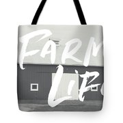 Farm Life Barn- Art By Linda Woods Tote Bag