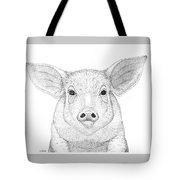 Farm Pig In Pointillism Tote Bag