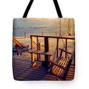Farm Porch Morning Tote Bag