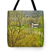 Farm Seen From Culp Hill Lookout In Gettysburg National Military Park-pennsylvania Tote Bag