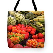 Farm To Market Produce - Melons, Corn, Tomatoes Tote Bag