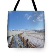 Farm Track To Round Law And King's Seat Tote Bag