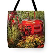 Farm - Tractor - A Pony Grazing Tote Bag by Mike Savad